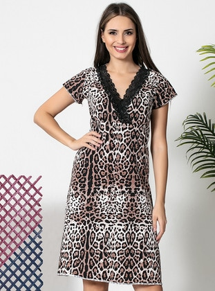 Multi - Cotton - Loungewear Dresses