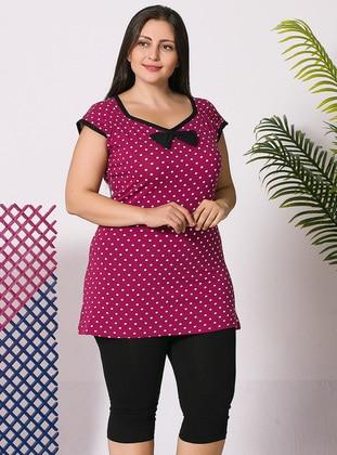 Multi - Multi - Cotton - Pyjama - Siyah inci
