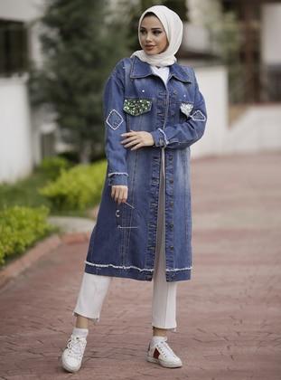 Blue - Unlined - Cotton - Denim - Jacket