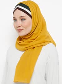 Yellow - Plain - Cotton - Instant Scarf