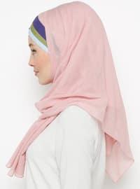 Pink - Plain - Cotton - Instant Scarf