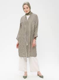 Khaki - Stripe - Unlined - Topcoat