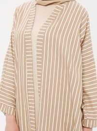 Mink - Stripe - Unlined - Topcoat