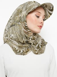 Green - Printed - Instant Scarf