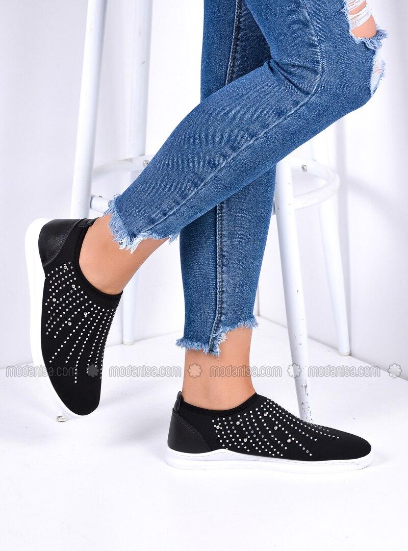 White - Black - Sport - Shoes