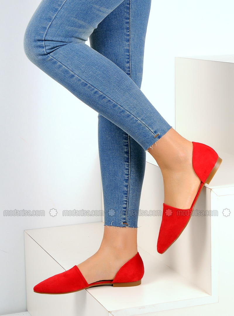 Red - Flat - Casual - Shoes