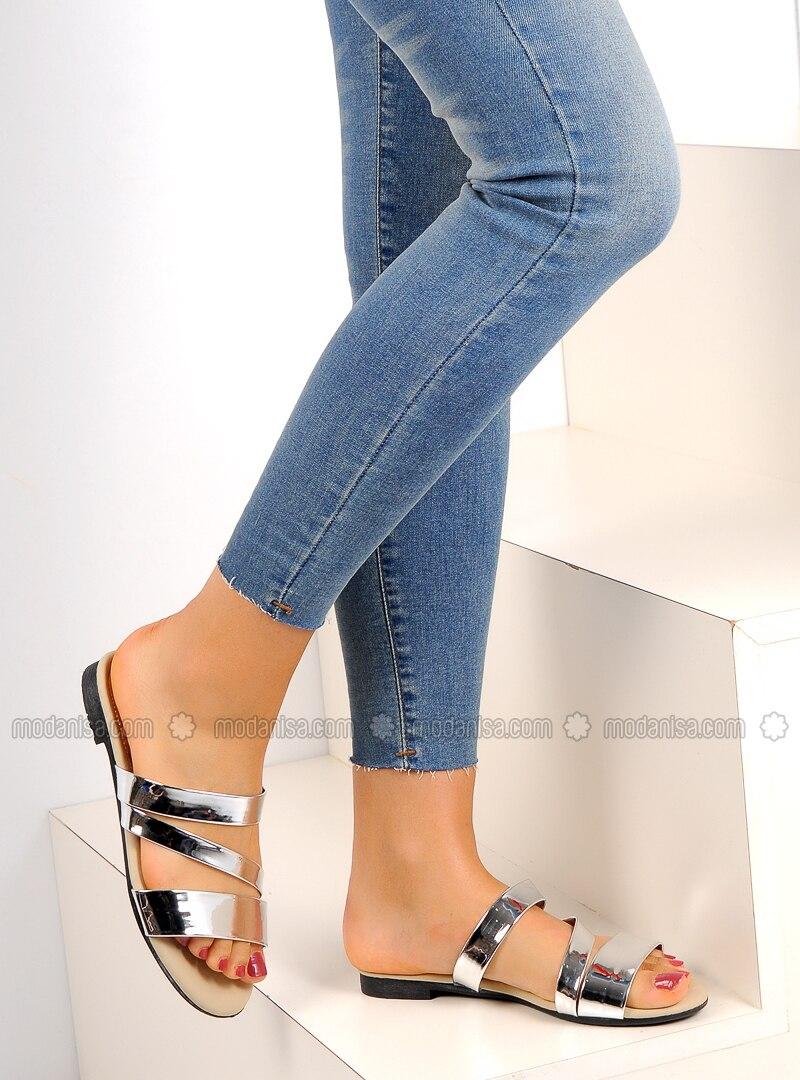Silver tone - Sandal - Silver tone - Sandal - Silver tone - Sandal - Silver tone - Sandal - Silver tone - Sandal - Slippers