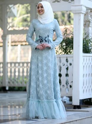 2d4121f4643aa Bebe Mavisi Tesettür Elbise Modelleri ve Fiyatları - Modanisa.com