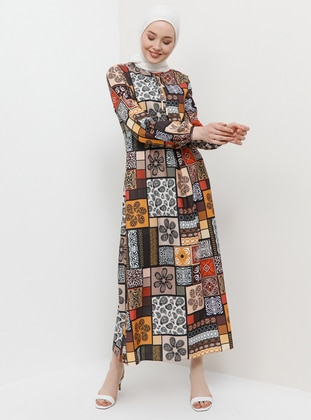 d9ee7349a9bb0 Vizon Tesettür Elbise Modelleri ve Fiyatları - Modanisa.com