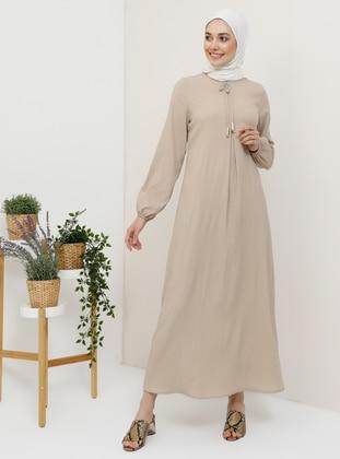 Mink - Crew neck - Unlined - Dress