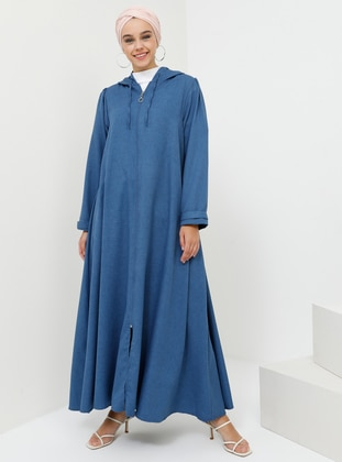 Blue - Navy Blue - Indigo - Unlined - Topcoat
