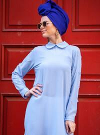 Blue - Round Collar - Tunic