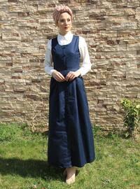 Petrol - Crew neck - Unlined - Cotton - Dress