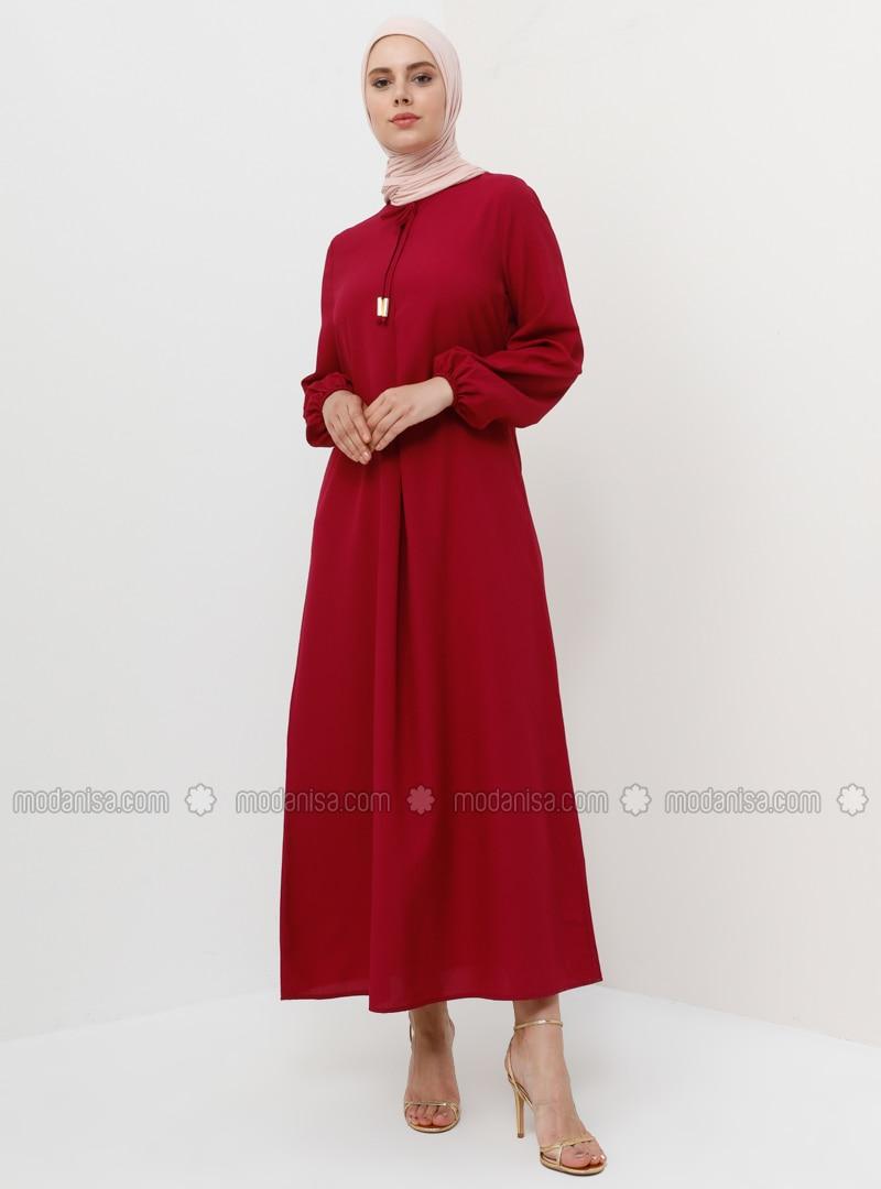 Cherry - Crew neck - Unlined - Dress