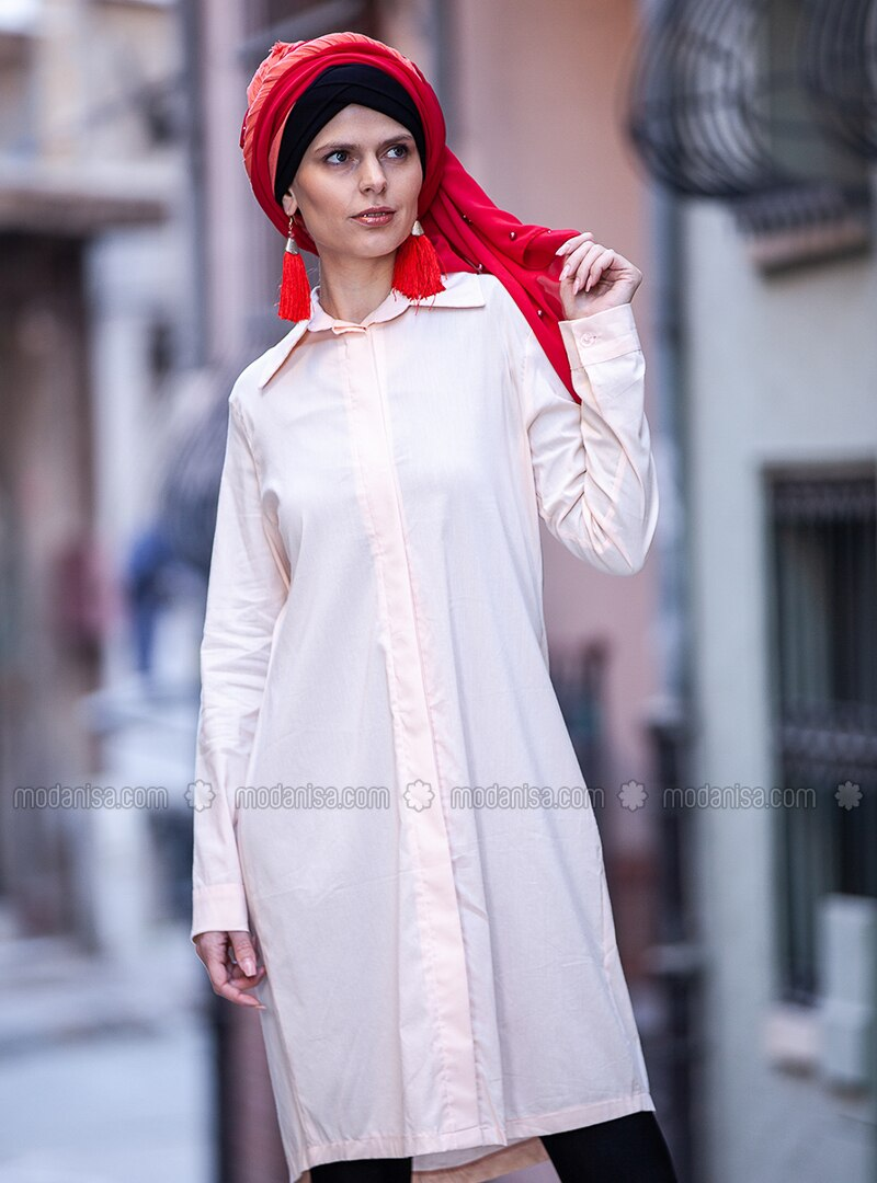 Powder - Point Collar - Cotton - Tunic