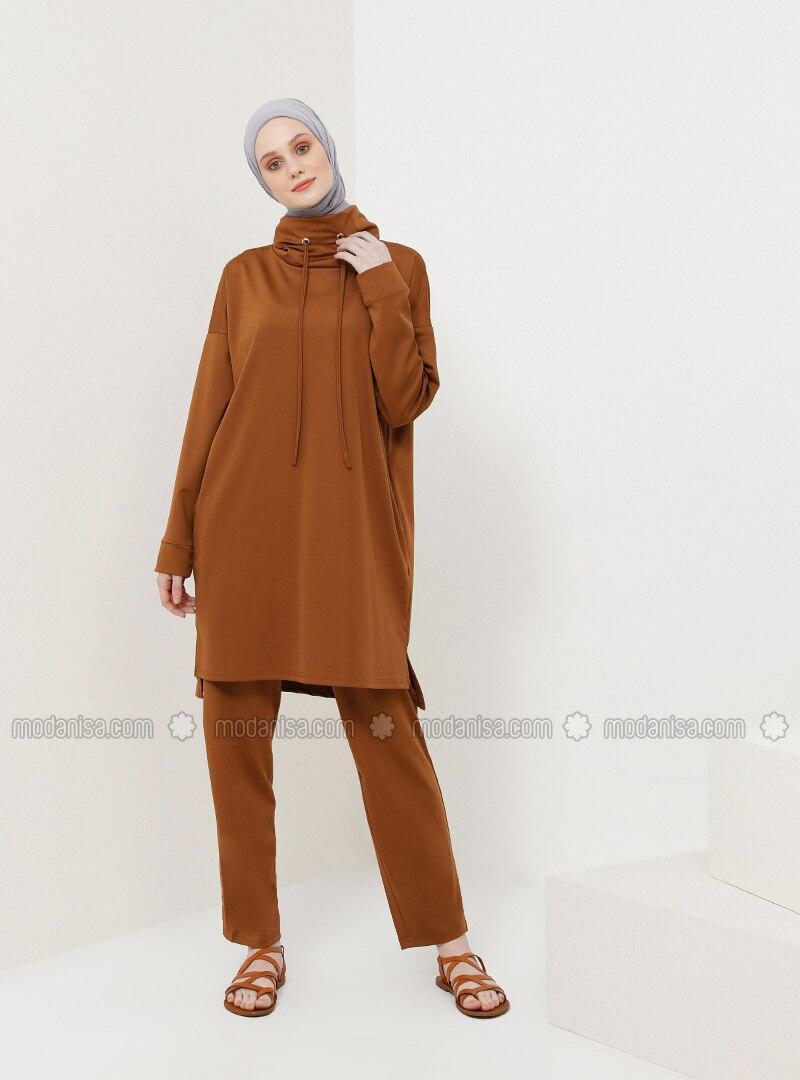 Brown - Unlined - Suit