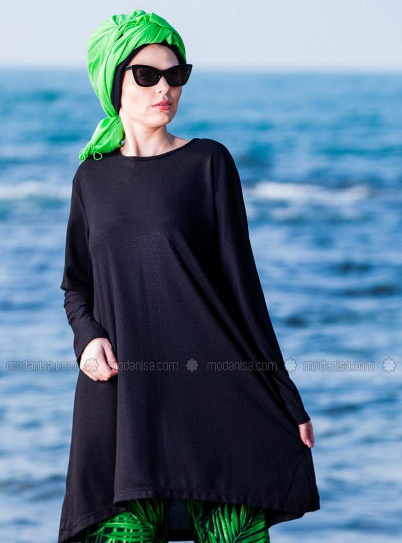 Green - Black - Multi - Unlined - Viscose - Suit