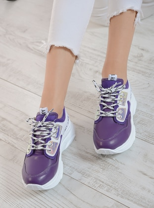 White - Purple - Sport - Sports Shoes