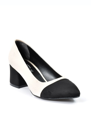 Black - Beige - High Heel - Heels - Vizon