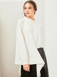 Cotton - Crew neck - Ecru - Sweat-shirt - Muni Muni