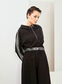 Black - Fully Lined - Cotton - Dress - Muni Muni