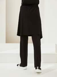 Black - Unlined - Viscose - Skirt - Muni Muni