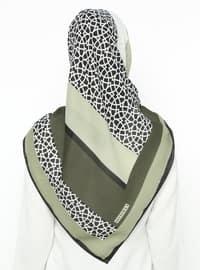 Khaki - Printed - Scarf