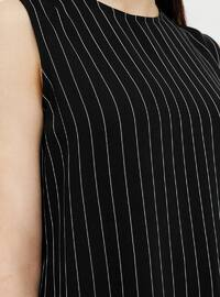 Black - Stripe - Crew neck - Tunic