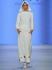 Ecru - Unlined - Cotton - Skirt - Muni Muni