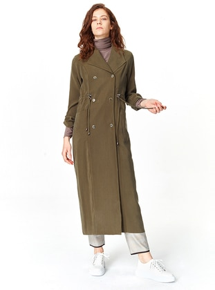 Khaki - Unlined - Trench Coat