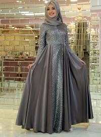 Gray - Muslim Evening Dress