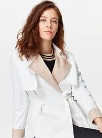 White - Unlined - Trench Coat