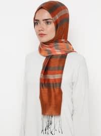 Multi - Striped - Silk Blend - Cotton - Shawl