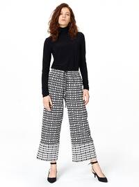 Black - White - Checkered - Pants