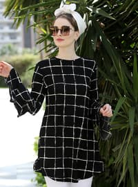 Black - Multi - Crew neck - Tunic