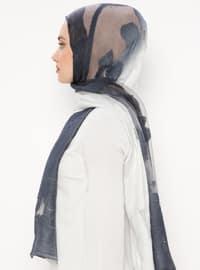 Navy Blue - Plain - Acrylic - Shawl