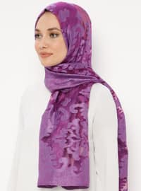 Purple - Plain - Acrylic - Shawl