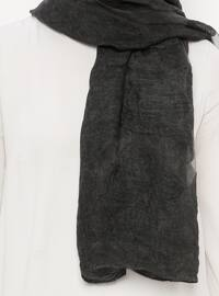 Black - Plain - Acrylic - Shawl