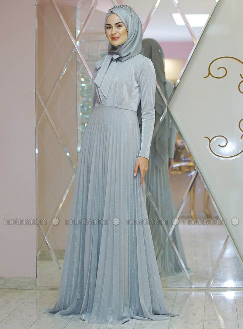 Silver tone - Fully Lined - Dress