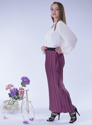 Dusty Rose - Unlined - Satin - Skirt