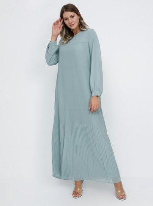 - Fully Lined - Crew neck - Muslim Plus Size Evening Dress - Alia