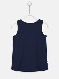 Crew neck - Navy Blue - Girls` T-Shirt
