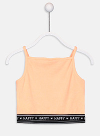 Orange - Girls` T-Shirt