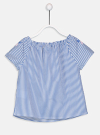 Stripe - Navy Blue - Girls` Shirt