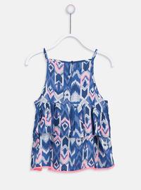 Printed - Navy Blue - Girls` Shirt