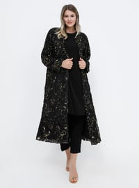 Black - Fully Lined - Plus Size Coat