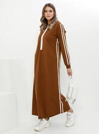 Tan - Unlined - Cotton - Plus Size Dress