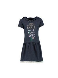 Printed - Indigo - Girls` Dress