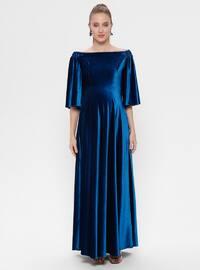 Petrol - Boat neck - Unlined - Maternity Dress