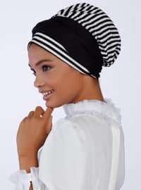 Kora Turban - Black White